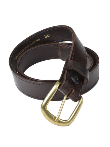 Marc Wolf Oil Tanned Top Grain Leather Belts in Br