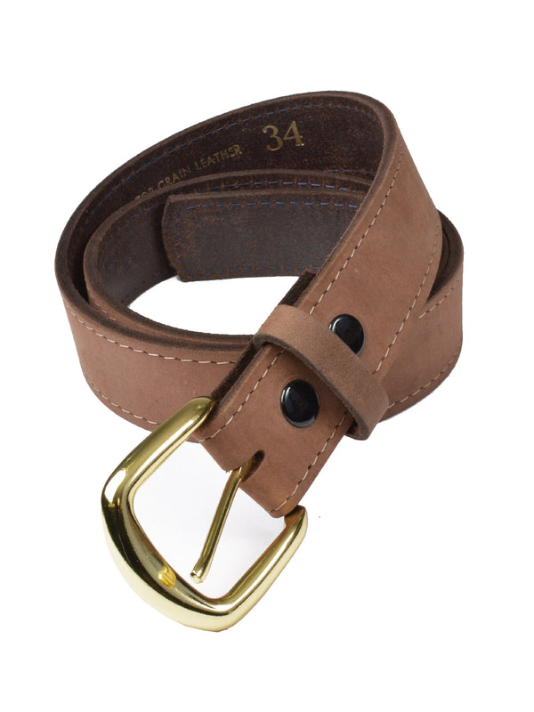 Marc Wolf Oil Tanned Top Grain Leather Belts in Buck 208B-BCK (44-54)