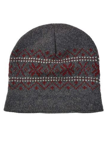 Eco Ragg Snowflake Beanie in Charcoal