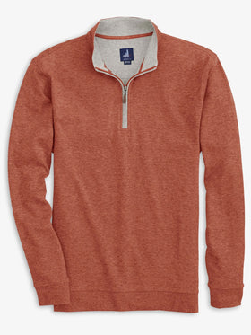Johnnie-O Sully 1/4 Zip Pullover in Cider