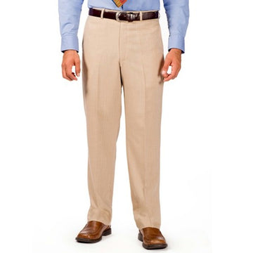 Kenneth Morton 100% Cotton Plain Front Pants - Sho
