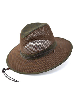 Henschel Packable Aussie Men's Hats in Distressed Gold