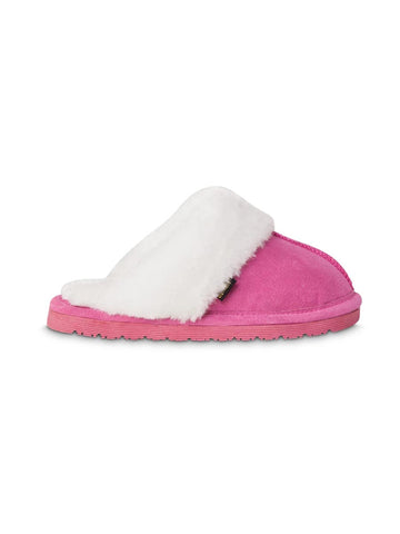 Old Friend Girls Scuff Slippers in Pink