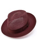 Dobbs Golden Coast Vented Milan Straw Hat in Burgundy