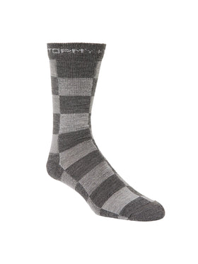 Stormy Kromer Lightweight Buffalo Check Crew Sock - Gray