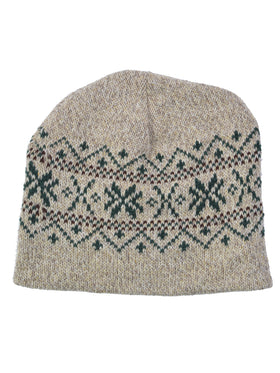 Eco Ragg Snowflake Beanie in Natural