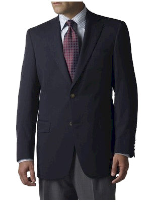 Hart Schaffner Marx 100% Wool Men's Navy Blazers - Regular Sizes