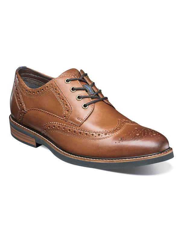 Nunn Bush Oakdale Oxford in Tan - Wide Width
