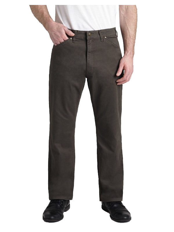 Grand River Brushed Twill Stretch Jeans - Tall Man Sizes - OLIVE