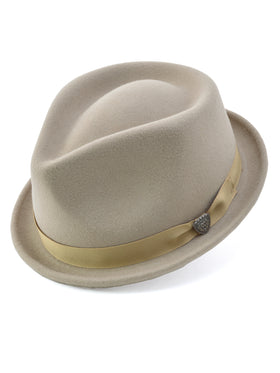 Dobb's Wool Felt 'Shorty' Hat in Khaki