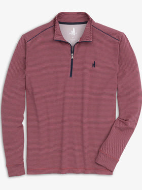 Johnnie-O Homan 1/4 Zip Pullover in Sweet Berry Wine