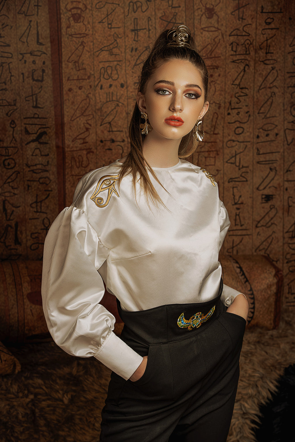 """QUEEN OF THE NILE"" SILK TOP"