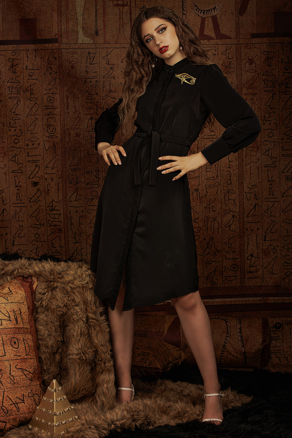 Eye of Honor Shirt Dress