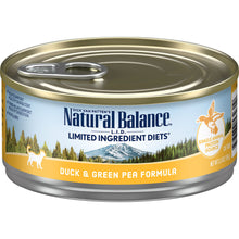Load image into Gallery viewer, Natural Balance L.I.D. Limited Ingredient Diets Duck & Green Pea Formula Canned Cat Food