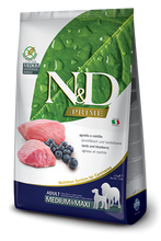 Load image into Gallery viewer, Farmina Prime N&D Natural & Delicious Grain Free Medium Adult Lamb & Blueberry Dry Dog Food