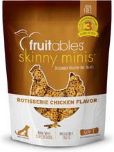 Load image into Gallery viewer, Fruitables Skinny Minis Rotisserie Chicken Flavor Soft & Chewy Dog Treats