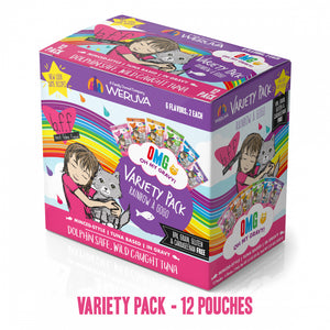 Weruva Grain Free BFF OMG Rainbow A Go Go Cat Variety Pouches Pack