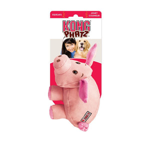 KONG Phatz Pig Plush Dog Toy