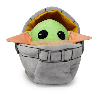 Buckle Down Mandalorian The Child Baby Yoda In Bassinet Squeaky Plush Dog Toy