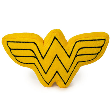 Buckle Down DC Comics Wonder Woman Logo Squeaky Plush Dog Toy