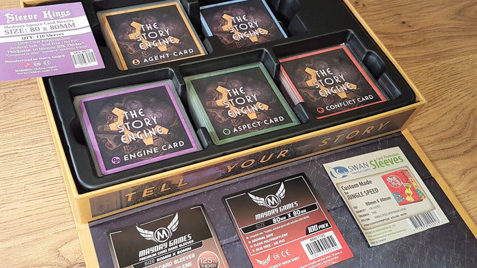 Review: Finding the Best Card Sleeves for The Story Engine Deck