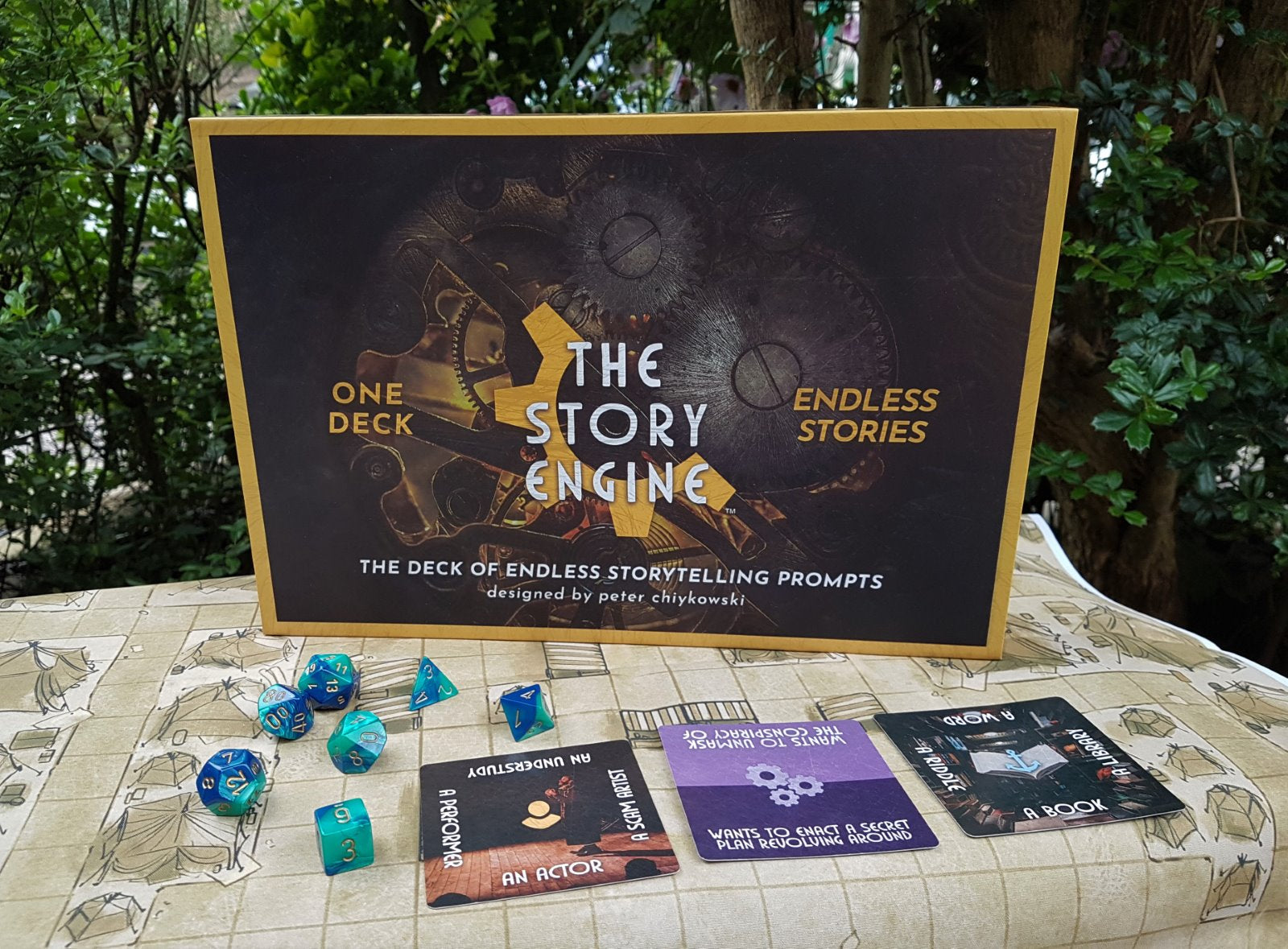 The Story Engine Deck of D&D campaign ideas and story prompts