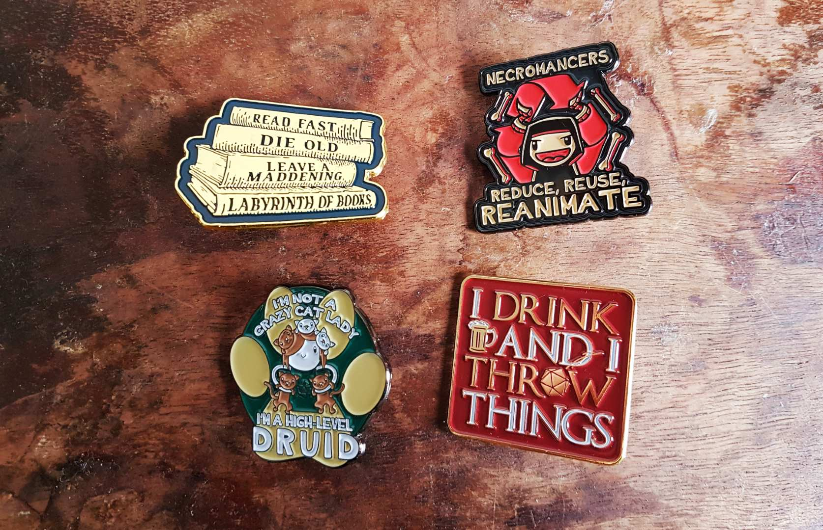 D&D enamel pins by Nat 21 Workshop