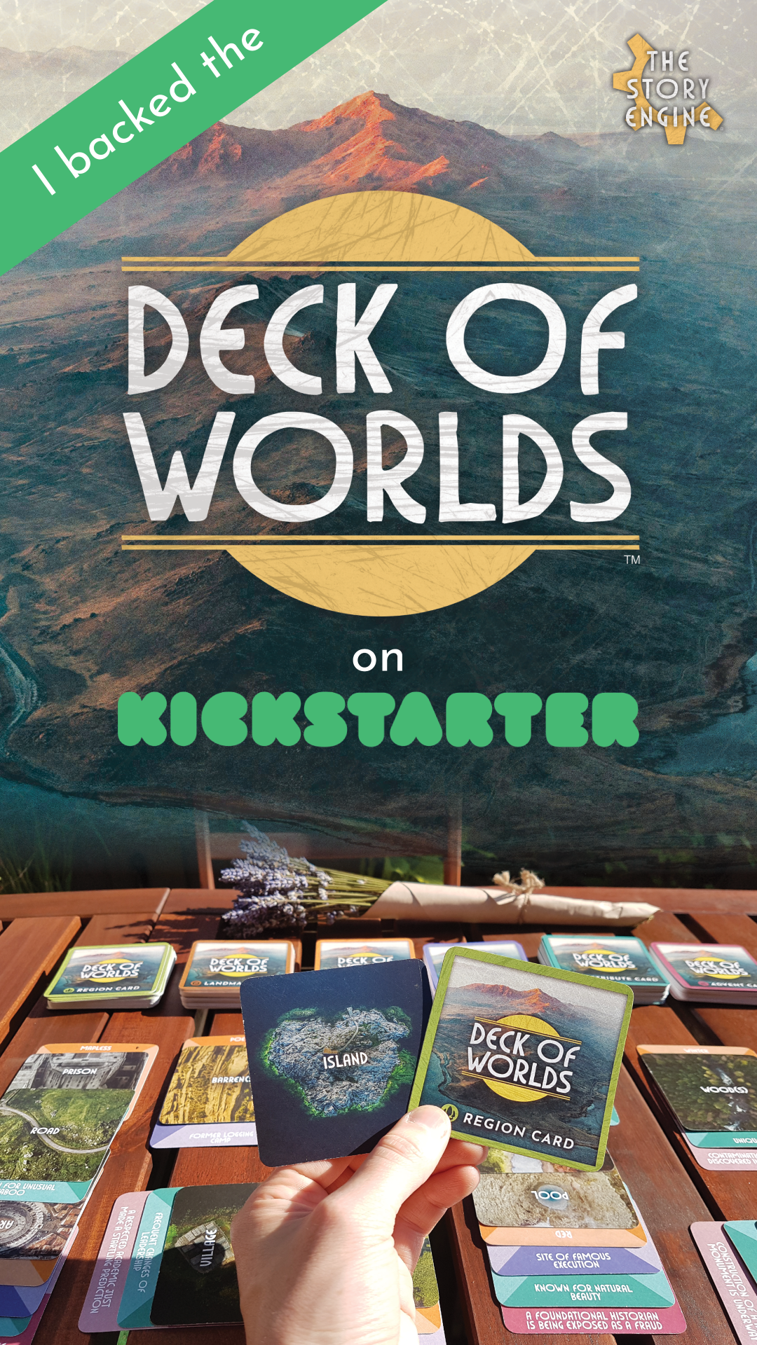 Social media story image for The Story Engine: Deck of Worlds