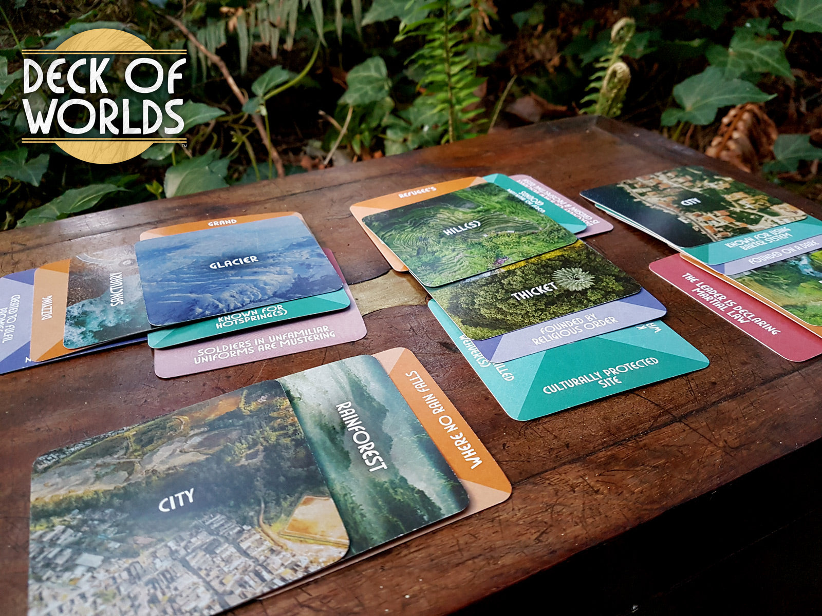 Image of deck in forest