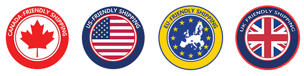 Customs-friendly shipping to Canada, the US, the EU, and the UK