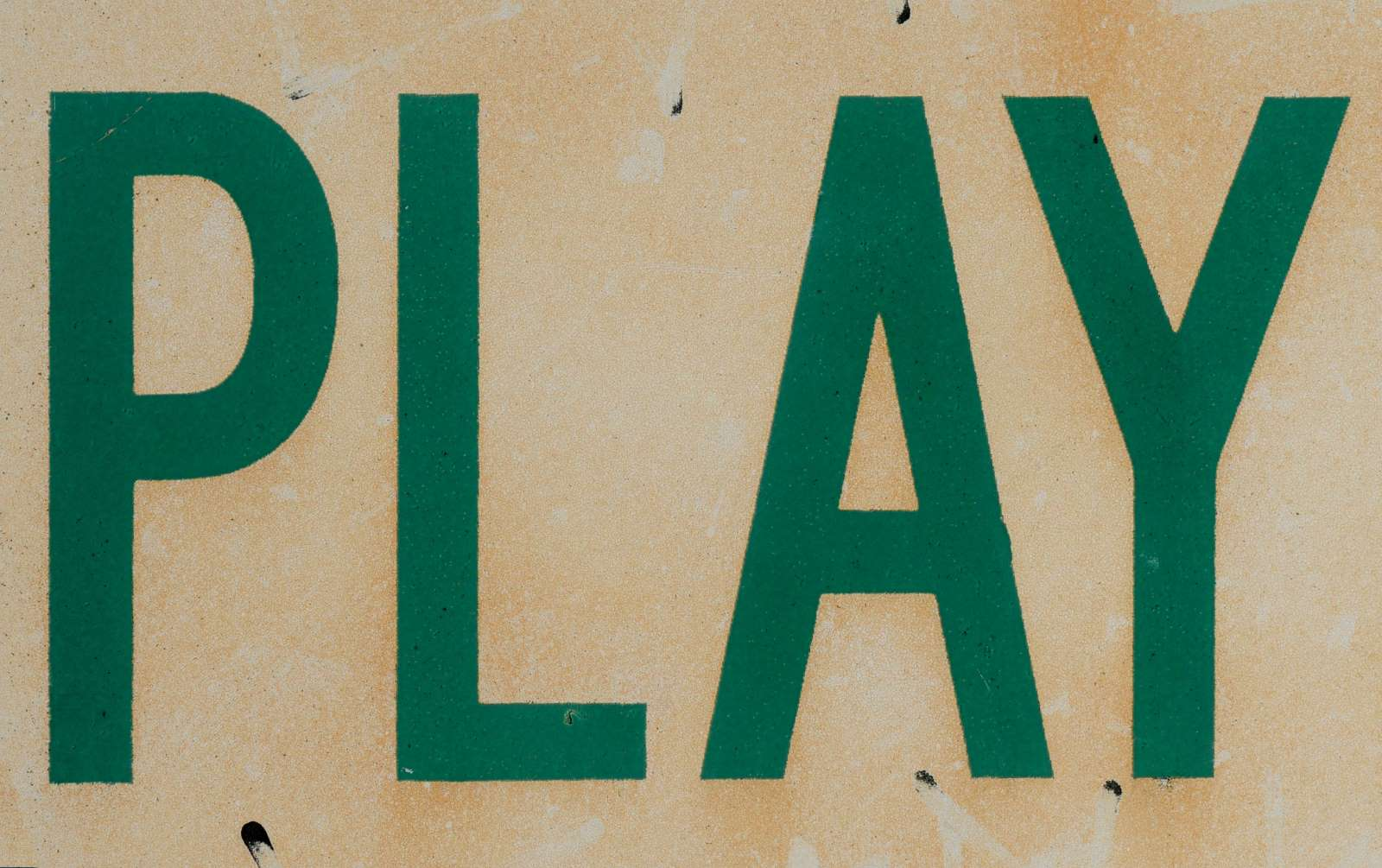 A sign saying PLAY. Photo by Ben Hershey.
