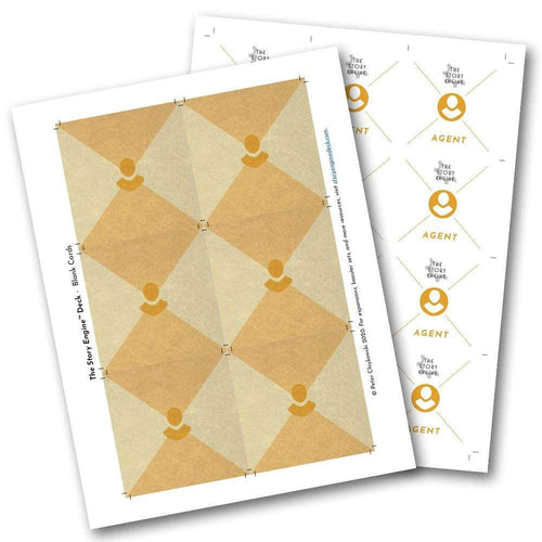 Free Creative Resources Blank Print Sheets to Create Your Own Cards The Story Engine Deck