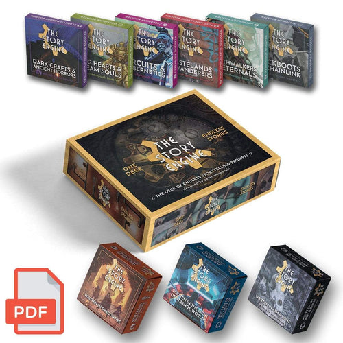 PDF Only DIGITAL EVERYTHING BUNDLE: Deck + 3 Expansions + 6 Boosters The Story Engine Deck