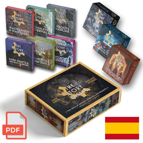 PDF Only DIGITAL EVERYTHING BUNDLE: Mazo + 3 Expansiones + 6 Paquetes de Expansión (PDF Espagnol) The Story Engine Deck