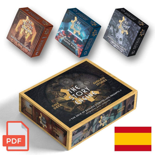 PDF Only DIGITAL EXPANSION BUNDLE: Mazo + 3 Expansiones (PDF Espagnol) The Story Engine Deck