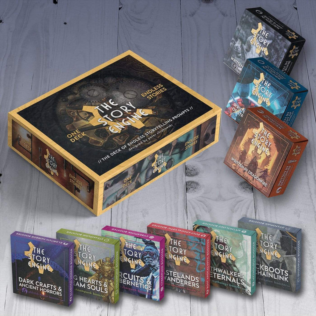 Writing Prompt Deck Bundles EVERYTHING BUNDLE: Deck + 3 Expansions + 6 Boosters + PDFs The Story Engine Deck