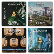 Load image into Gallery viewer, Writing Prompt Expansion Decks Science Fiction Expansion: Written in the Light of Strange Worlds The Story Engine Deck