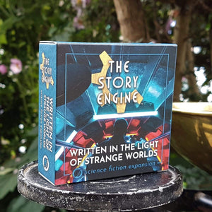 Writing Prompt Expansion Decks Science Fiction Expansion: Written in the Light of Strange Worlds The Story Engine Deck