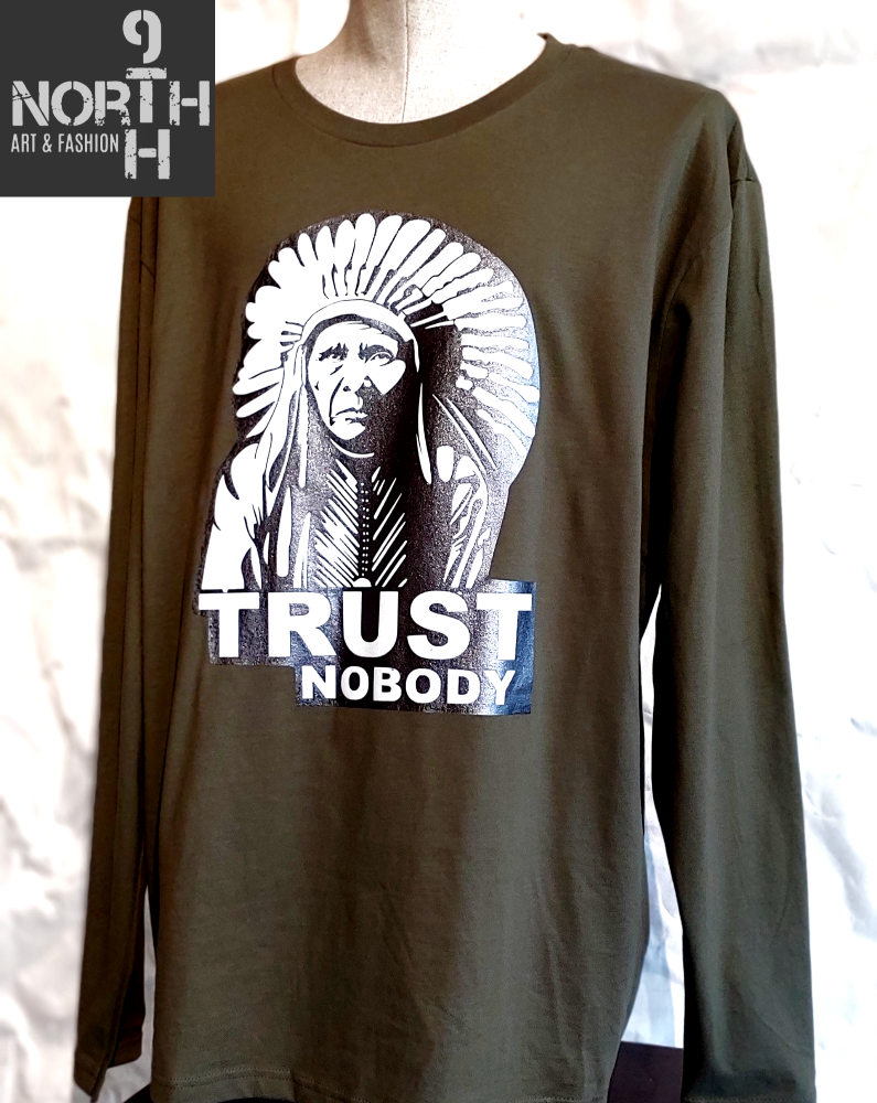 Tribal Trust long sleeve t-shirt by 9thandnorth - Dakoro Art