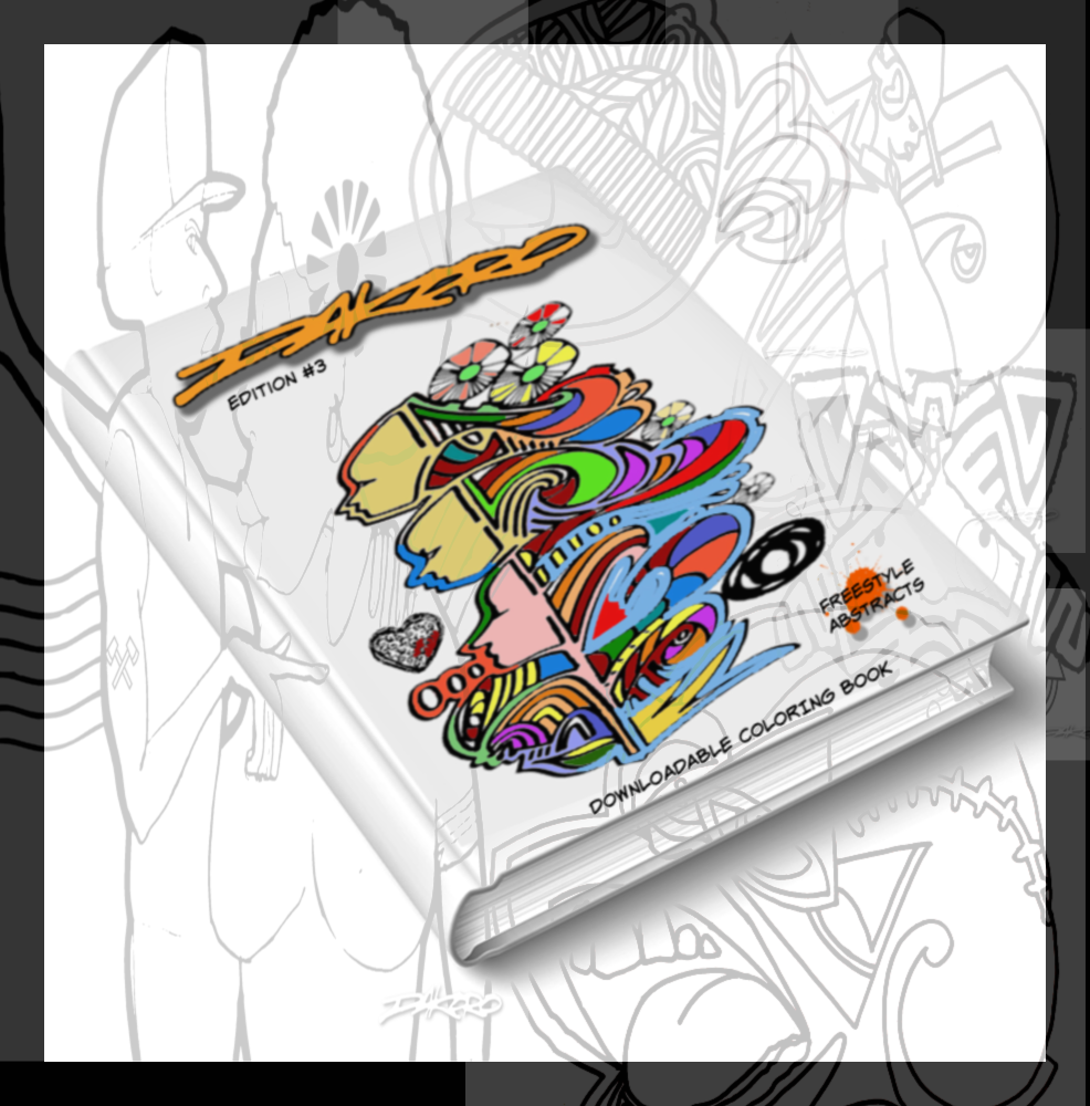 Freestyle Abstract Coloring Book by Dakoro       Buy 1 Get 1 FREE - Dakoro Art