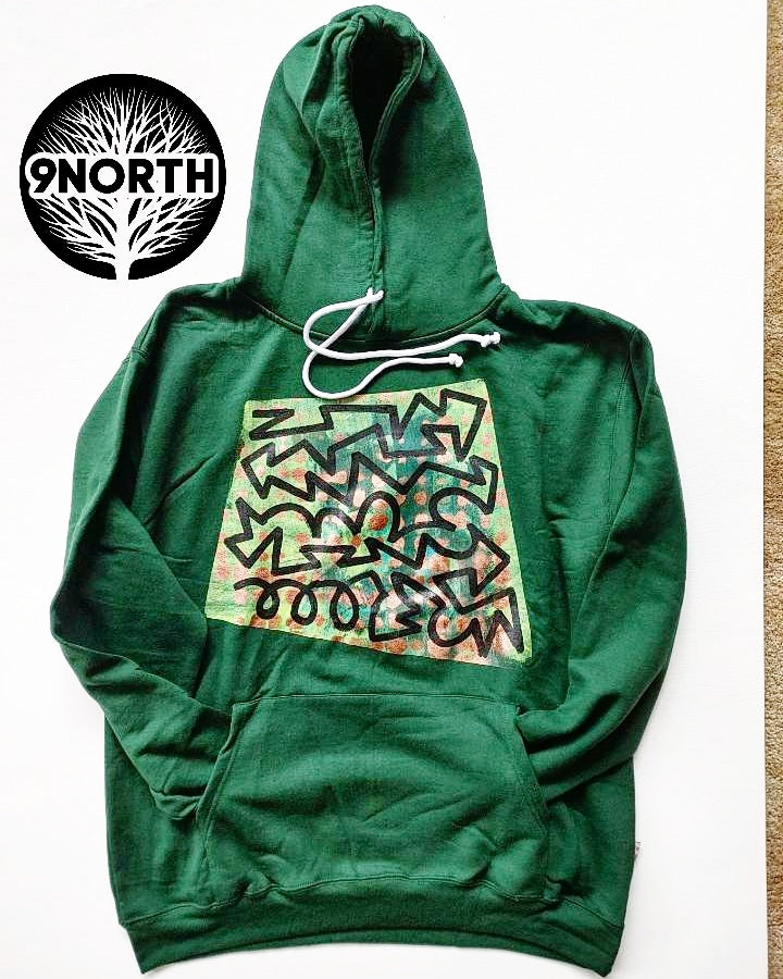 MONEY MAKING hand painted hoodie by 9ThandNorth