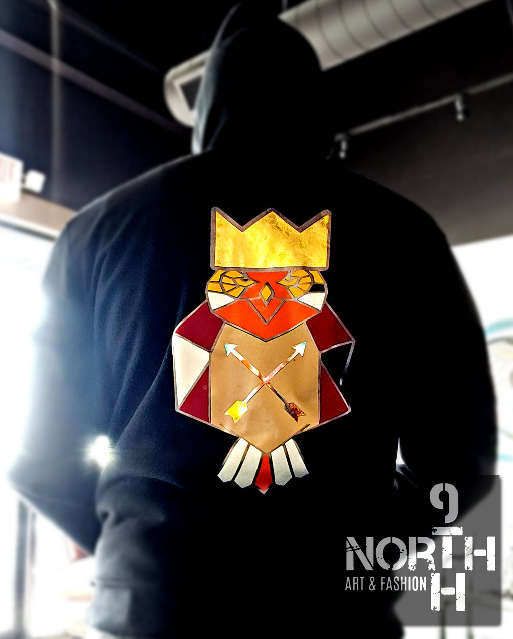 PAPER CROWNS OWL by 9thandnorth - Dakoro Art