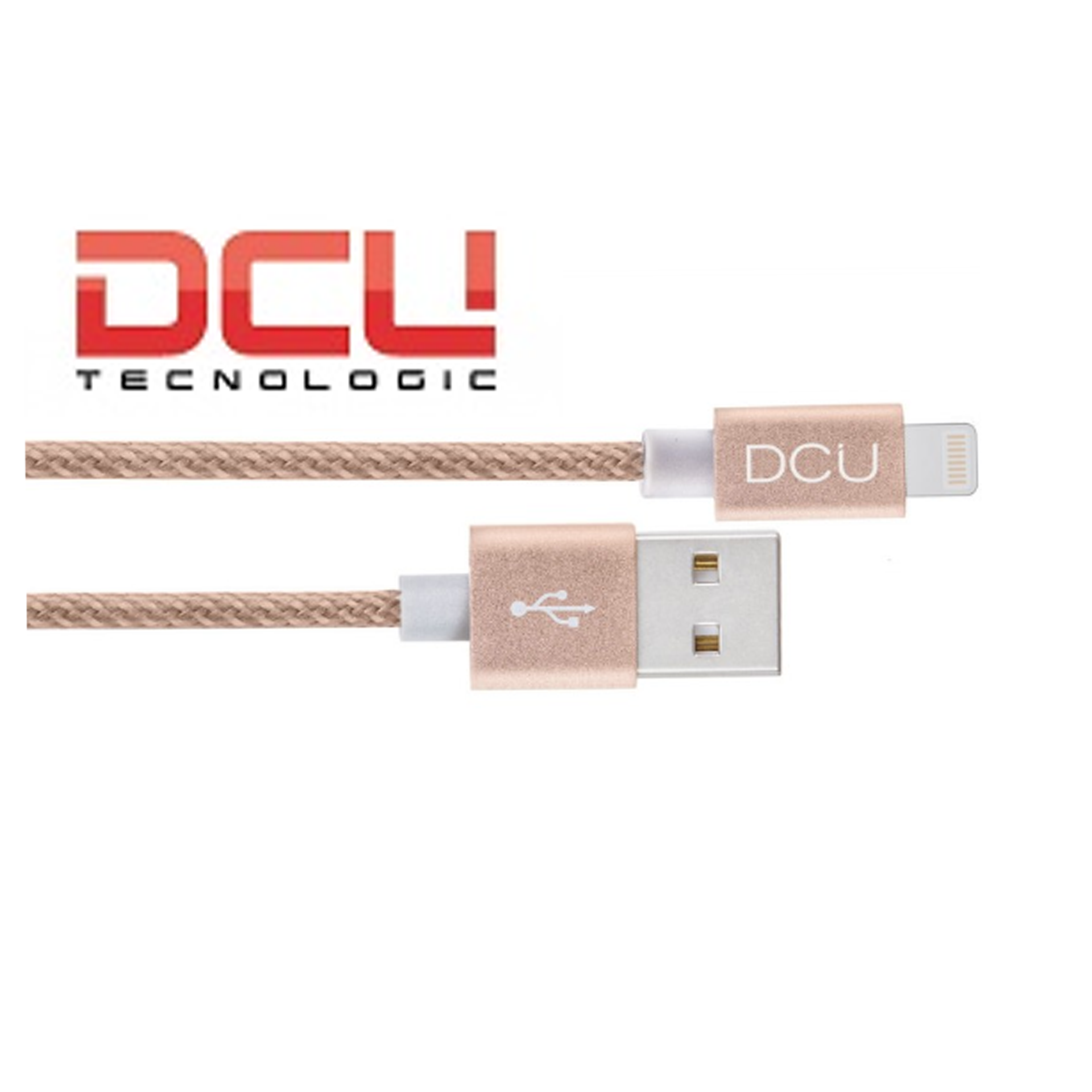 CABLE USB -MF IPHONE DORADO ALUMINIO 1M