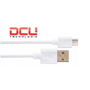 CABLE USB A MICRO USB BLANCO 1M