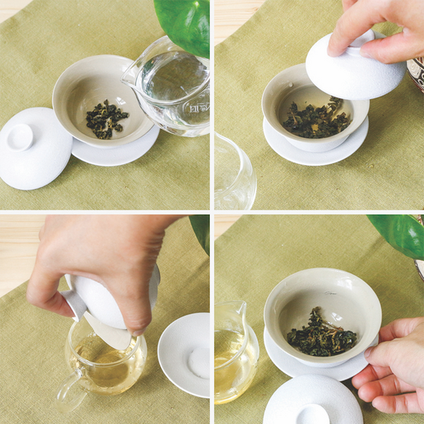 how to brew tea the ancient Chinese way with a gaiwan in four steps