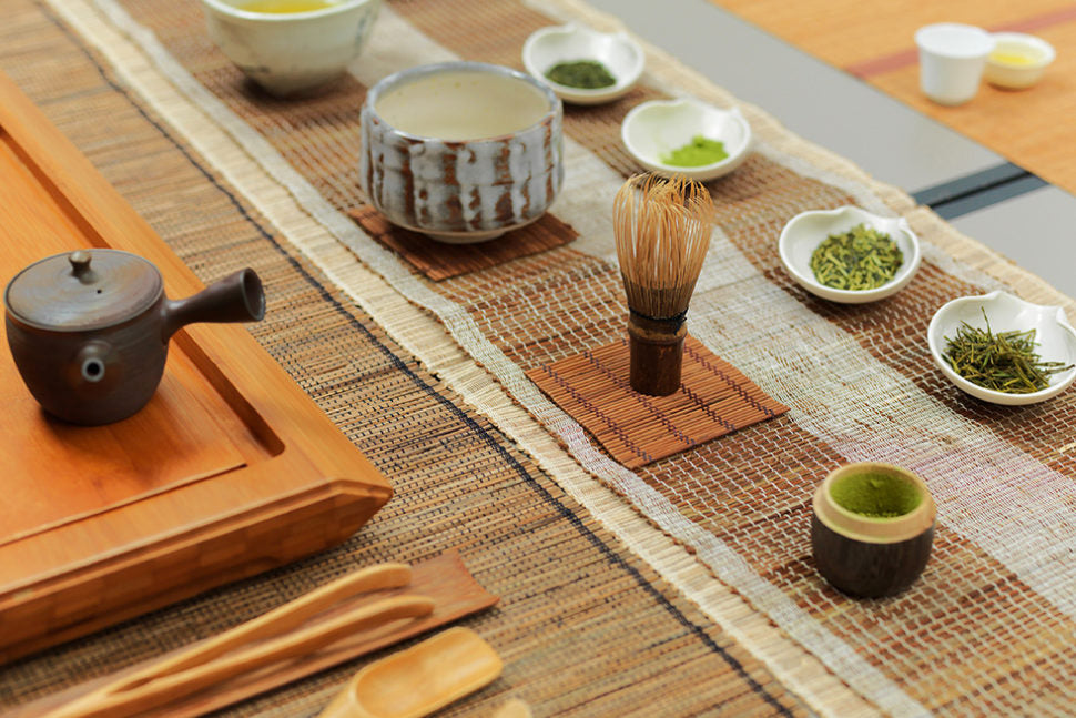 Green tea seminar table setting, Paper & Tea Berlin