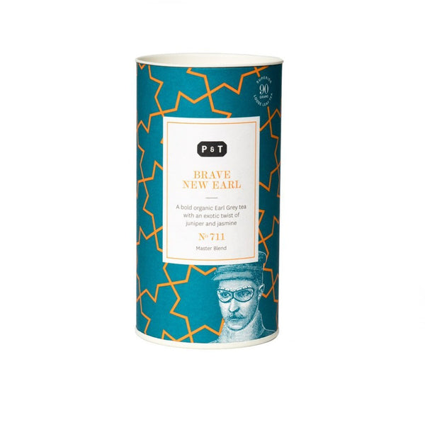 Brave New Earl N°711 citrus, orange, fresh pine, malt A bold organic Earl Grey tea with an exotic twist of juniper and jasmine Black Tea, Master Blend Paper & Tea