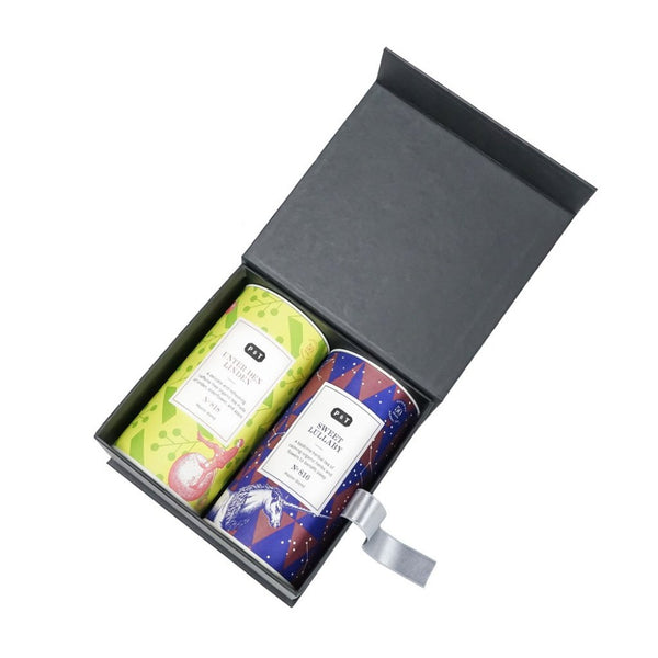 Master Blend Duo Set 'From Dawn 'til Dusk'  A set of two best-selling herbal blends from P & T's Master Blends collection.  Paper & Tea