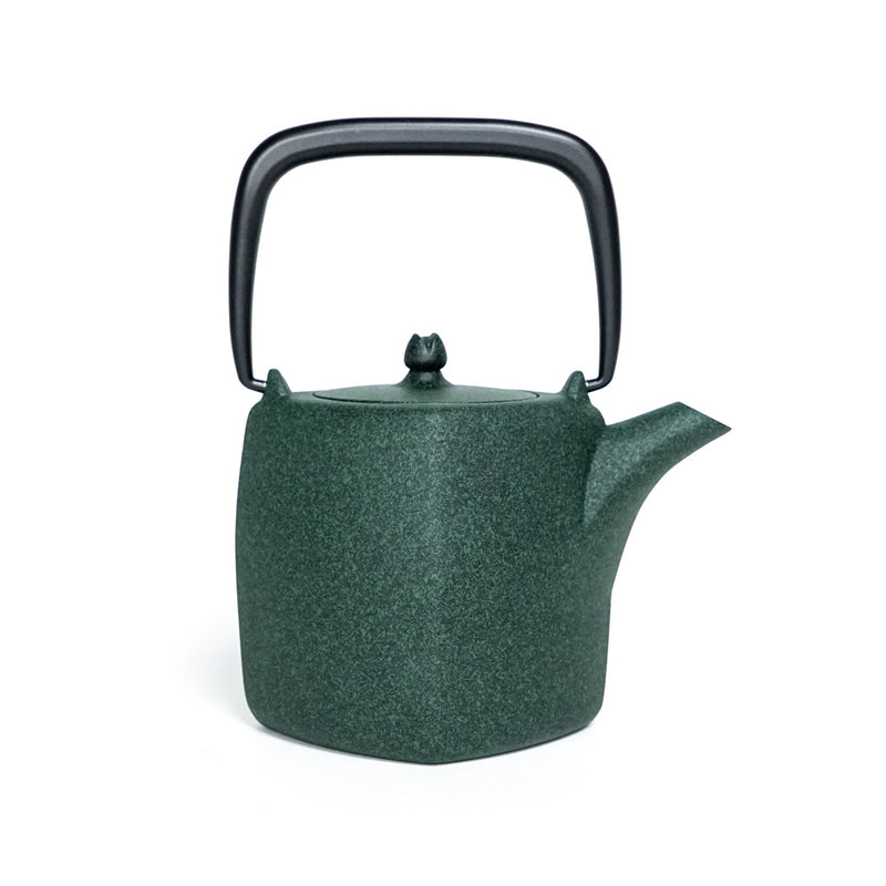 Forest Green Iron Teapot