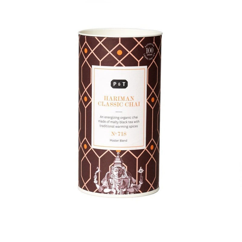 Hariman Classic Chai N°718 malt, cinnamon, clove An energizing organic chai made of malty black tea with traditional warming spices Black Tea, Master Blend Paper & Tea